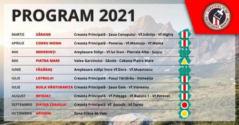 Calendar de refacere marcaje 2021
